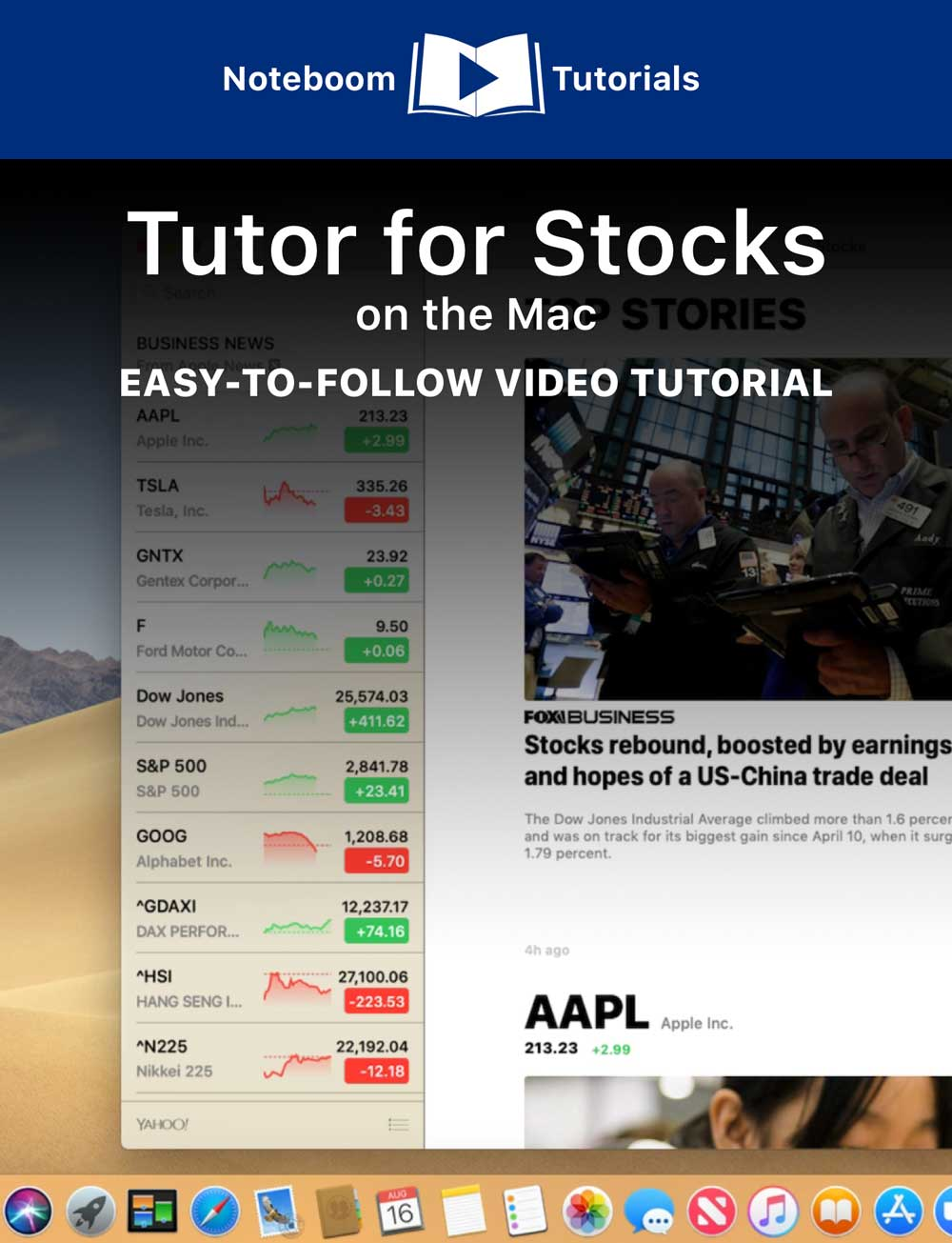 Tutor for Stocks for the Mac