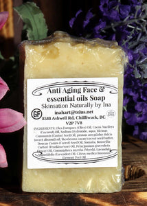 Anti-Aging Face soap - loaded with essential oils - Skinsation Naturally