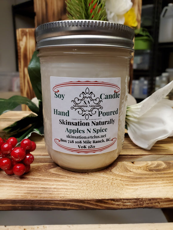 Hand  Poured Soy Wax Candle 200gm - Skinsation Naturally