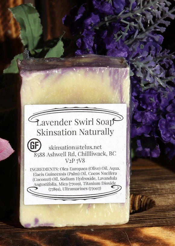 Lavender Swirl Soap - Skinsation Naturally