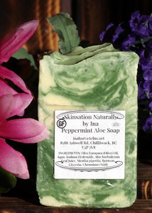 Peppermint & Aloe Soap - Skinsation Naturally