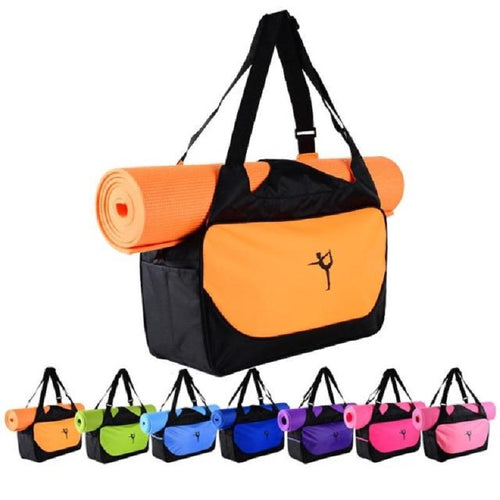 Multifunctional Waterproof Yoga Bag With Carriers for 6-10mm Yoga mat