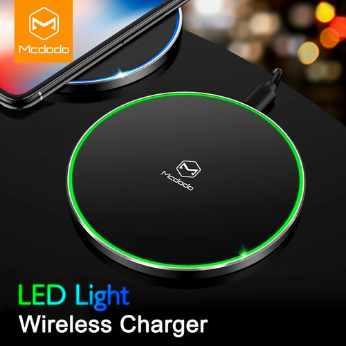 Fast LED Wireless Charger For iPhone X 8 Samsung Note 8 S8 Plus S7 S6 Edge