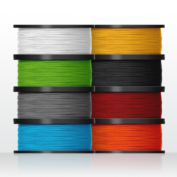 8 rolls biodegradable PLA filament (for H400 3D printers)