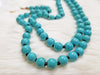BEADED TURQUOISE NECKLACE WITH TASSEL