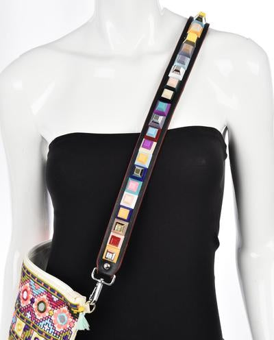 GEO STACKED CUBE GUITAR STRAP