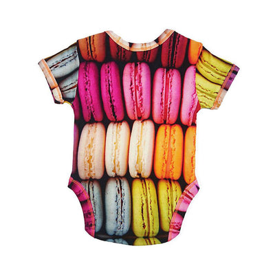 INCHWORM ALLEY MACARONS ONESIE