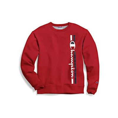 Champion Men's Graphic Powerblend Fleece Crew