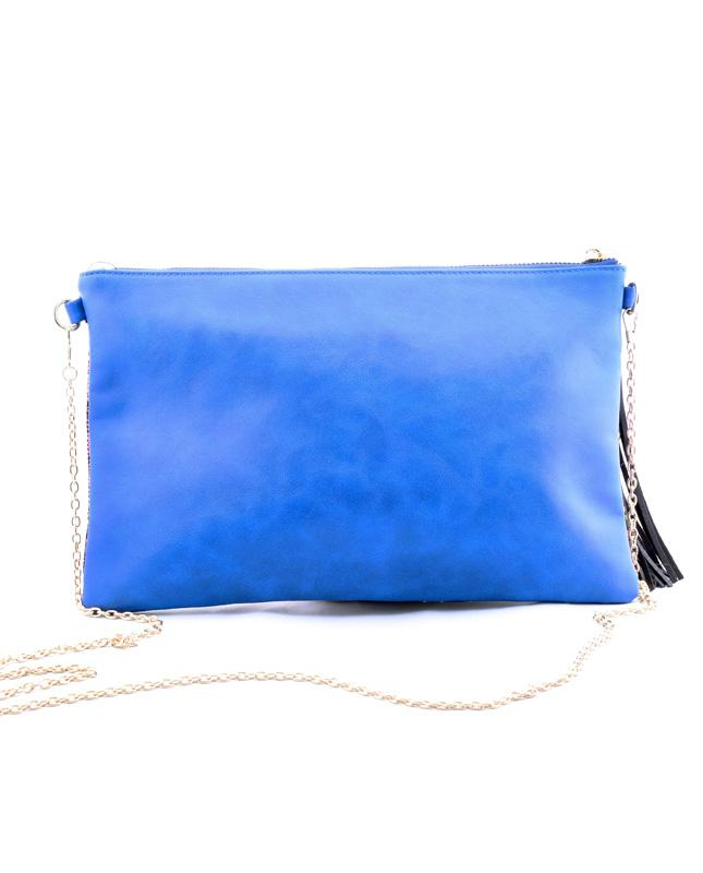 GLOBE TROTTER EMBROIDERED CLUTCH