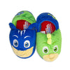 PJ Masks Boys Slippers Catboy and Gekko Mismatch,Slip on Plush Slippers for Toddlers