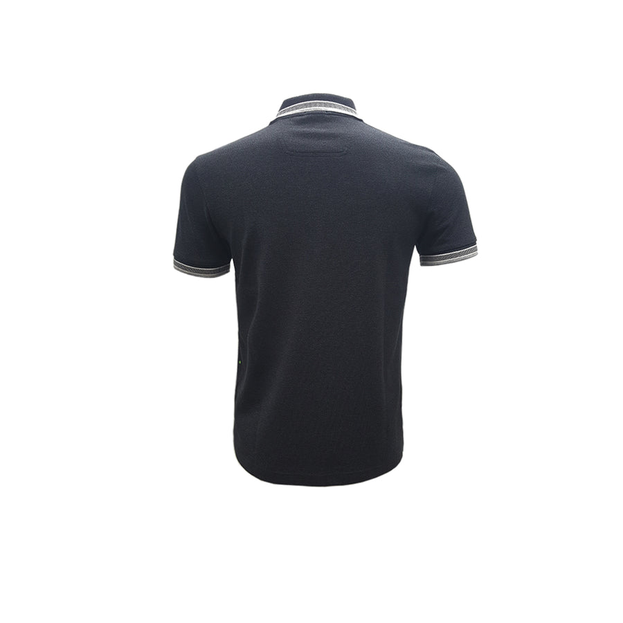 Regular fit polo shirt with three-button placket