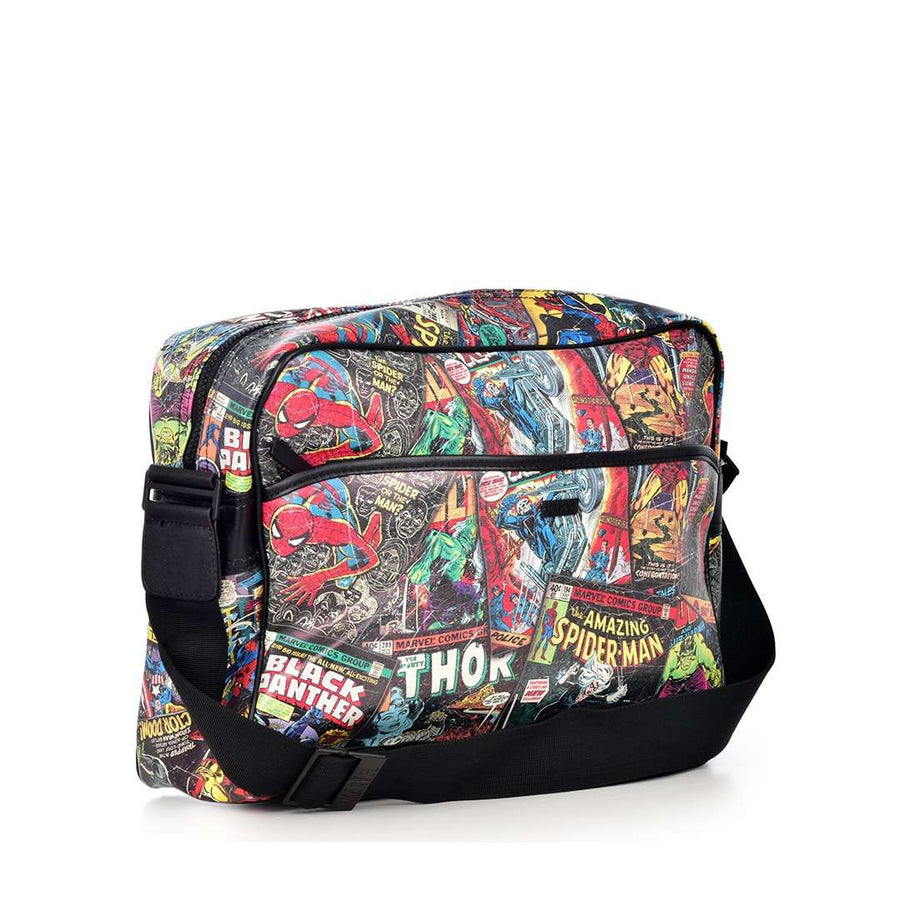 RETRO MARVEL COMICS ALLOVER PRINT MESSENGER BAG
