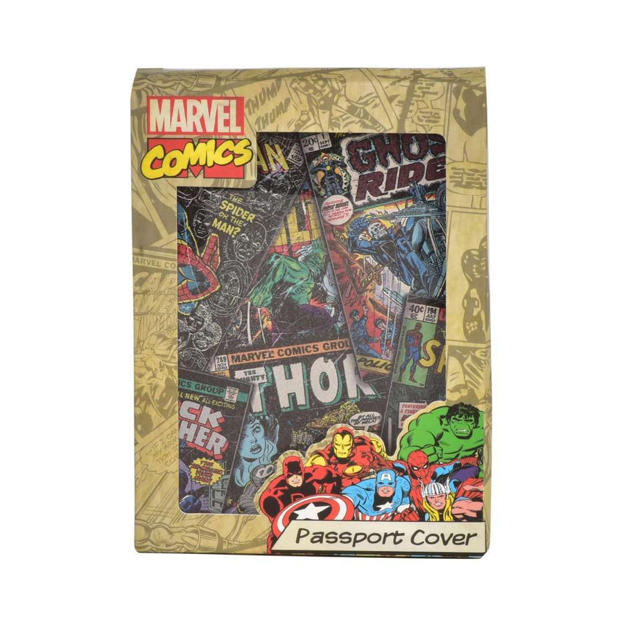 RETRO MARVEL COMICS PASSPORT HOLDER