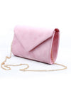 VEGAN SUEDE ENVELOPE CROSSBODY CLUTCH