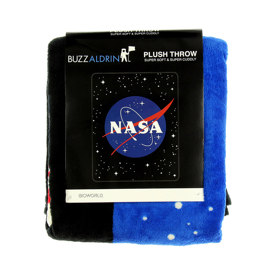 NASA CLASSIC SPACE LOGO FLEECE PLUSH THROW