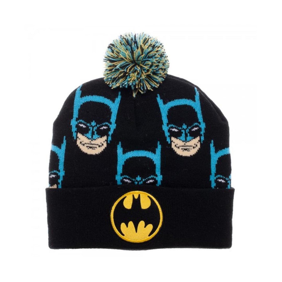 DC COMICS BATMAN FACES CUFF POM BEANIE