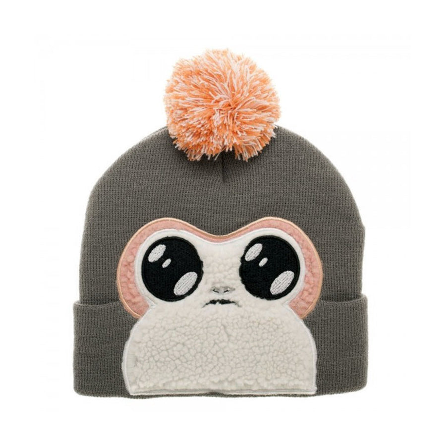 STAR WARS: THE LAS JEDI PORG BIGFACE BEANIE WITH POM