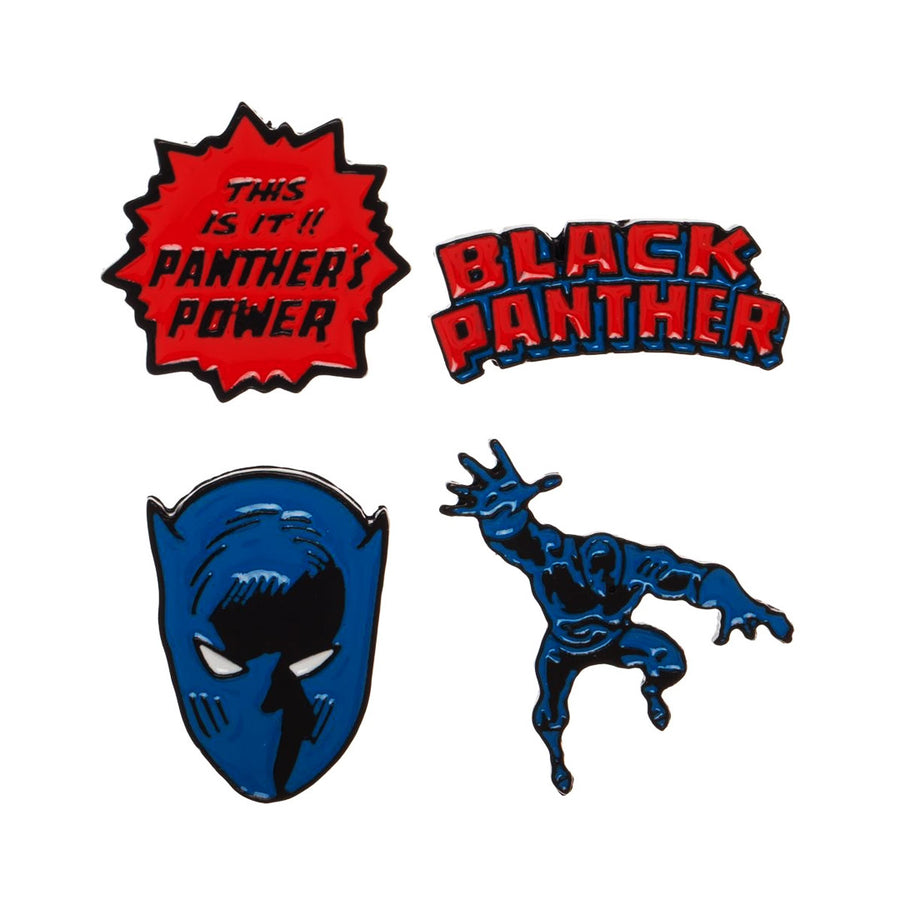 Black Panther Lapel Pin Set
