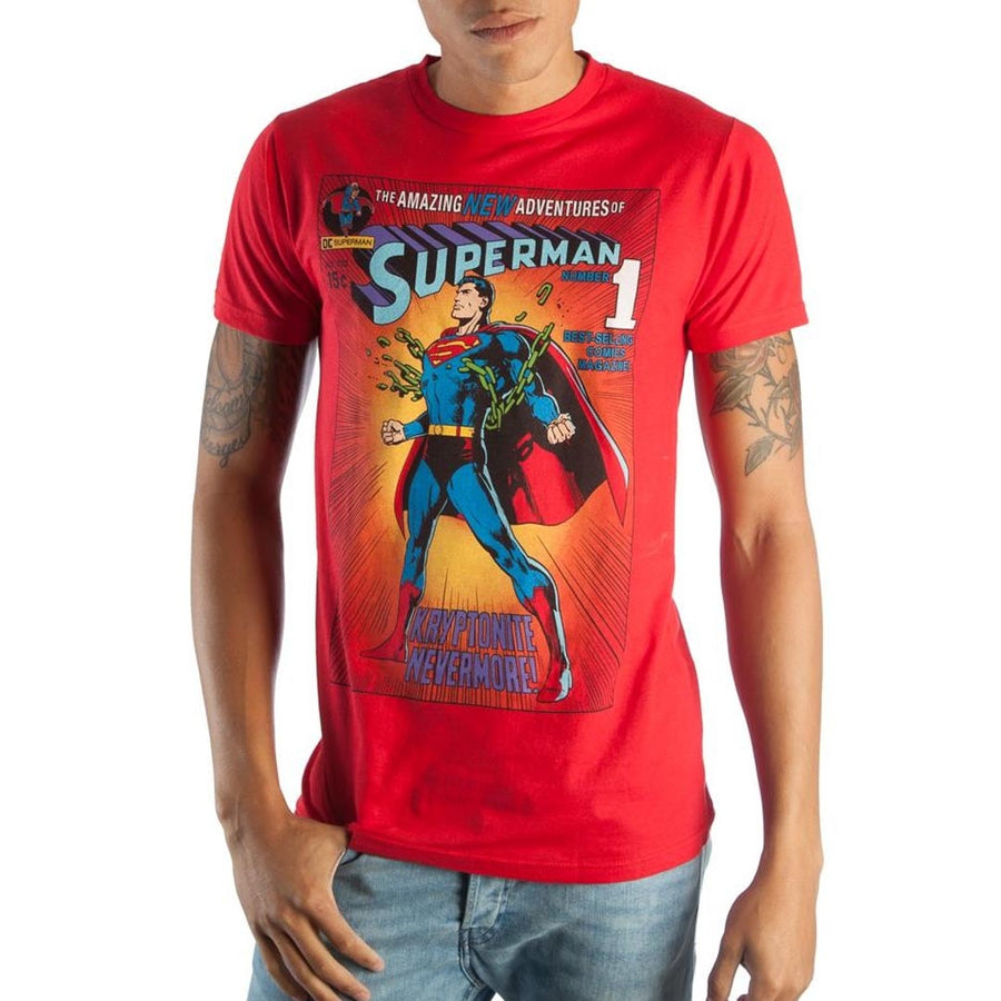 AUTHENTIC SUPERMAN COMIC BOOK T-SHIRT- MEN'S - Life Soleil