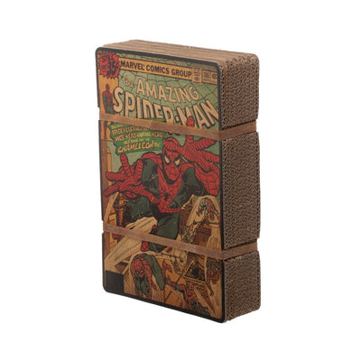 MARVEL'S SPIDER-MAN BOOK COVER GRAPHIC T-SHIRT W/ PRINTED BOX CASING