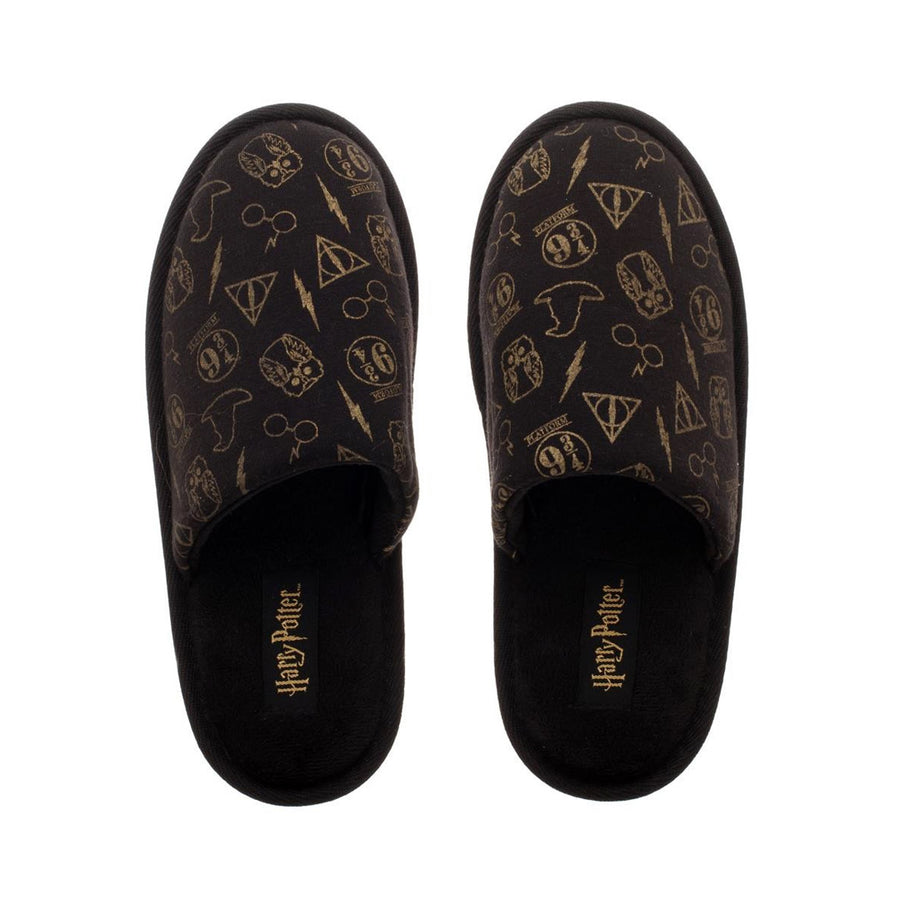 HARRY POTTER ALL-OVER PRINT SCUFF ADULT SLIPPERS