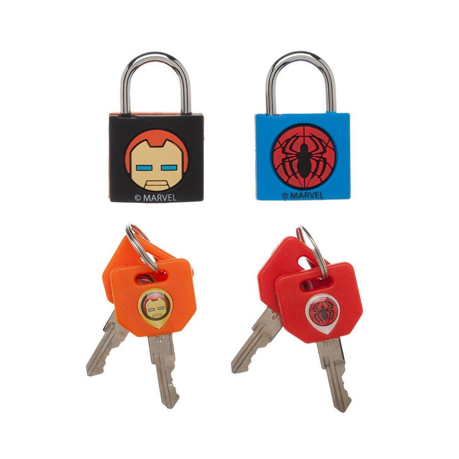 MARVEL SET OF 2 PADLOCKS WITH 4 KEYS
