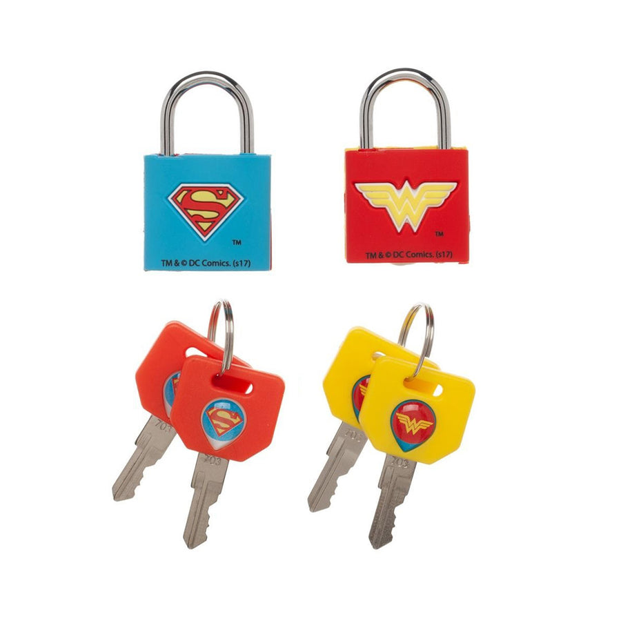DC COMICS JUSTICE LEAGUE SET OF 2 PADLOCKS WITH 2 KEYS