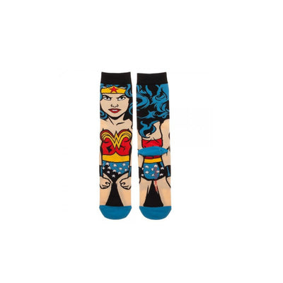 DC COMICS JUSTICE LEAGUE 6-PK 360 CHARACTER CREW SOCKS BOX SET