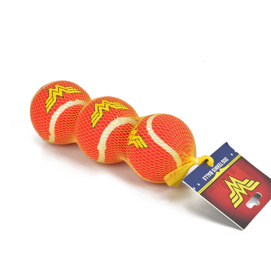 WONDER WOMAN LOGO TENNIS BALL 3-PACK