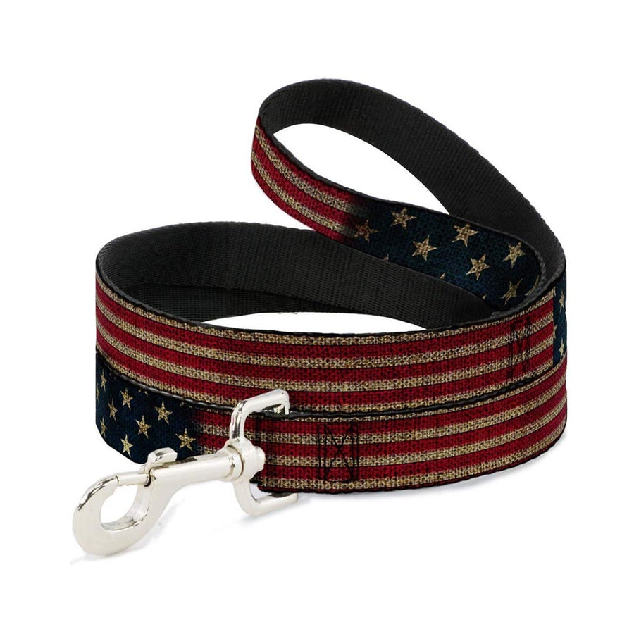 BUCKLE-DOWN VINTAGE AMERI-CAN FLAG DOG COLLAR