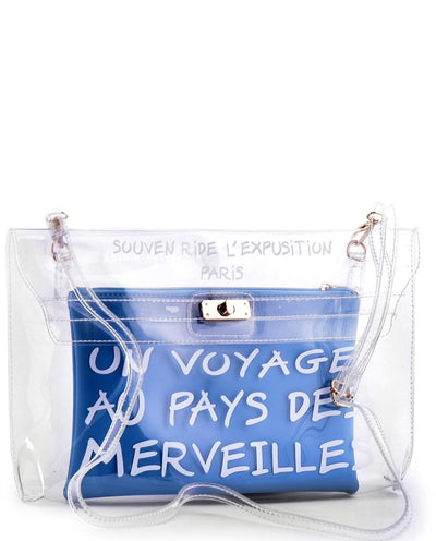 TRANSPARENT FRENCH CLUTCH: VOYAGE TO WONDERLAND