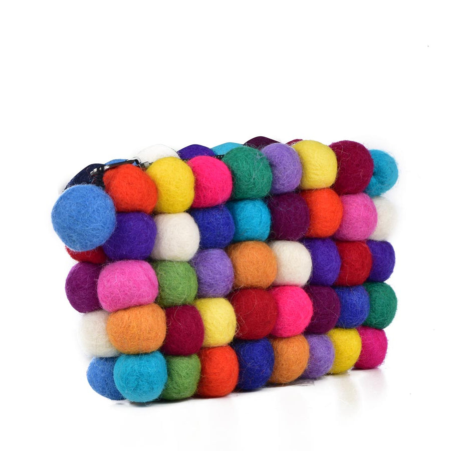 GUMBALL COLORS WOOL FELT COIN PURSE - Life Soleil