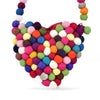 GUMBALL COLORS HEART WOOL FELT PURSE