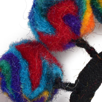 WOOL FELT GUMBALL HAIR SCRUNCHIE