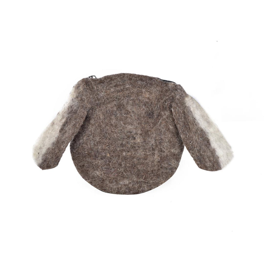 DOGGY WOOL FELT COIN PURSE