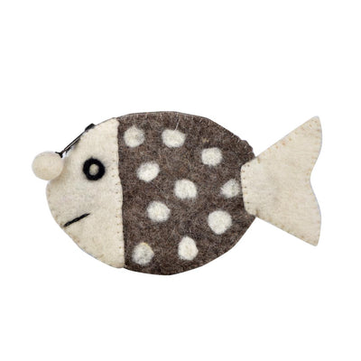 FISHY WOOL FELT COIN PURSE