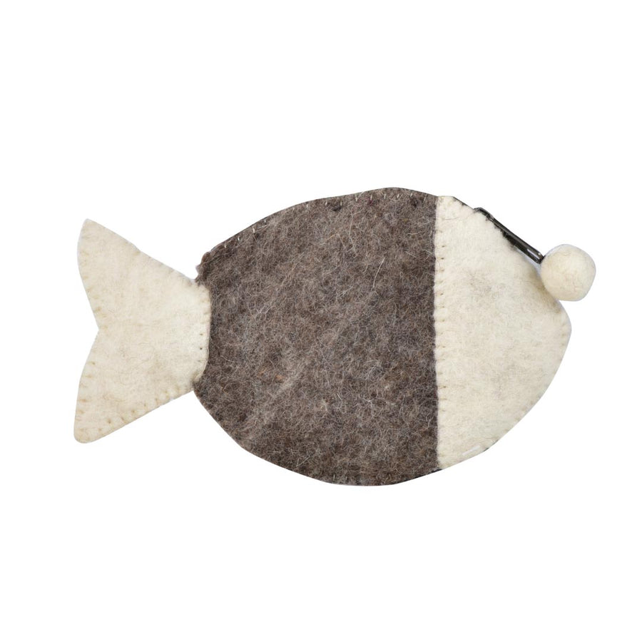 FISHY WOOL FELT COIN PURSE - Life Soleil