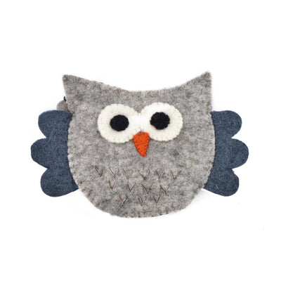 WHOO OWL WOOL FELT COIN PURSE