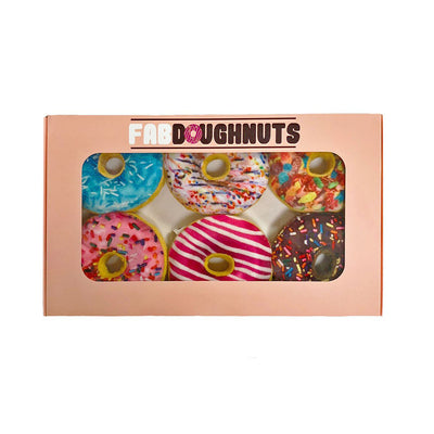 FAB DOG BOX OF DOUGHNUTS PLUSH SQUEAKY TOY
