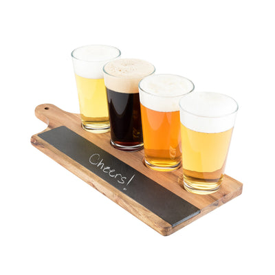 FOSTER AND RYE ACACIA & SLATE BEER FLIGHT BOARD