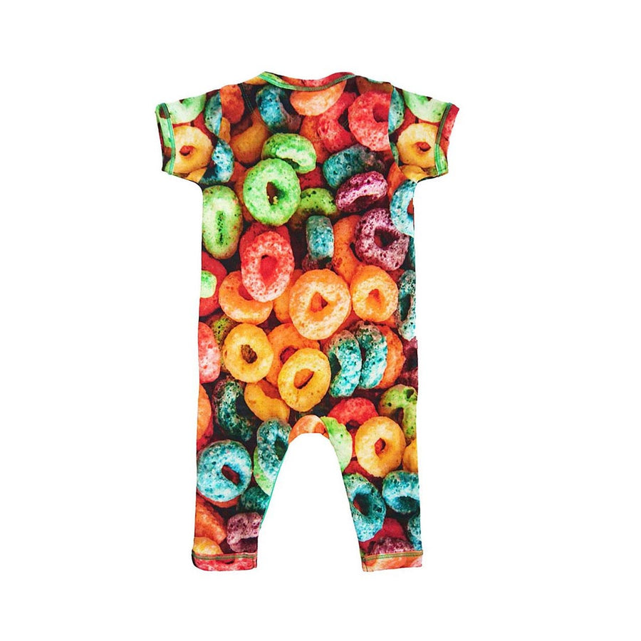 INCHWORM ALLEY FRUIT LOOPS FOOTIE ROMPER