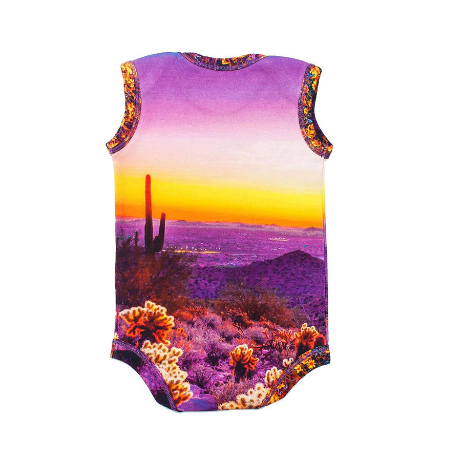 INCHWORM ALLEY DESERT SUNSET ONESIE