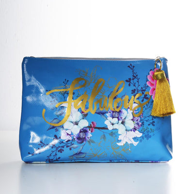 PAPAYA! JEWEL FLOWER LARGE POUCH