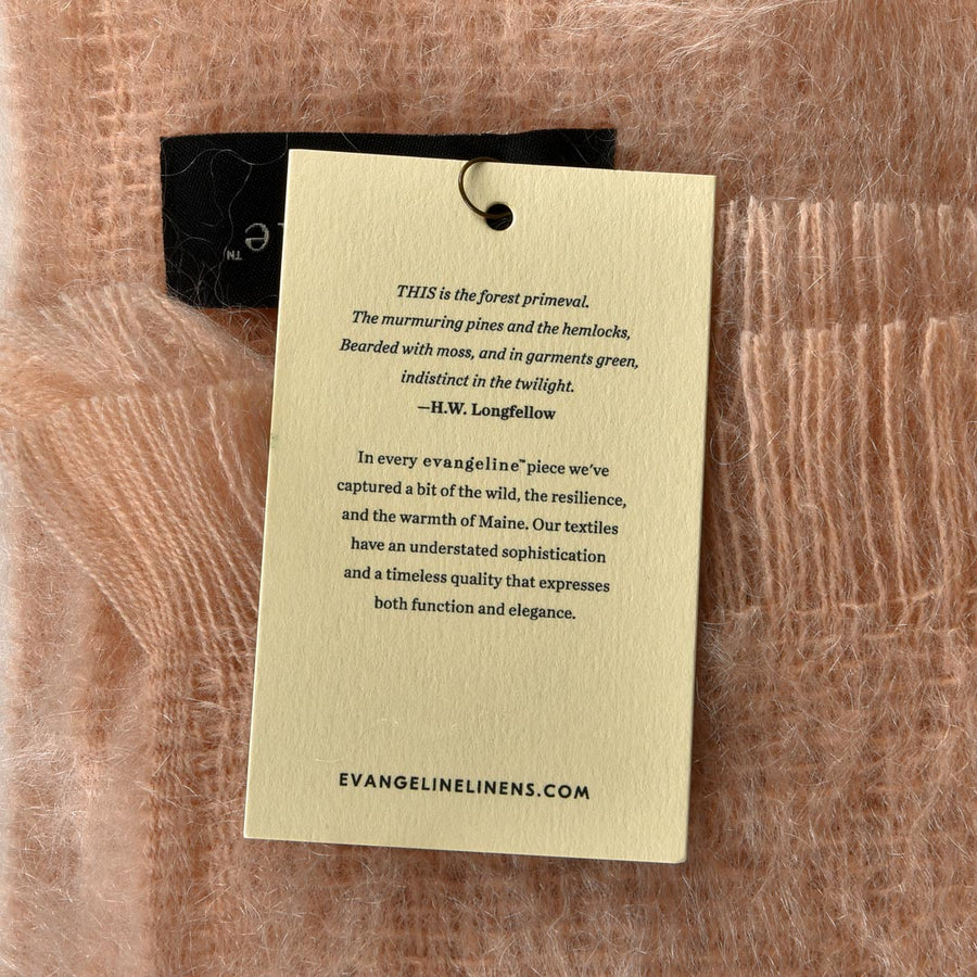 LUXURY MOHAIR THROW BY EVANGELINE LINENS