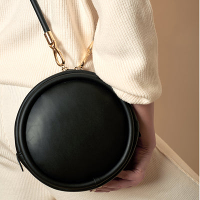 HOZEN CANTEEN PURSE IN ONYX