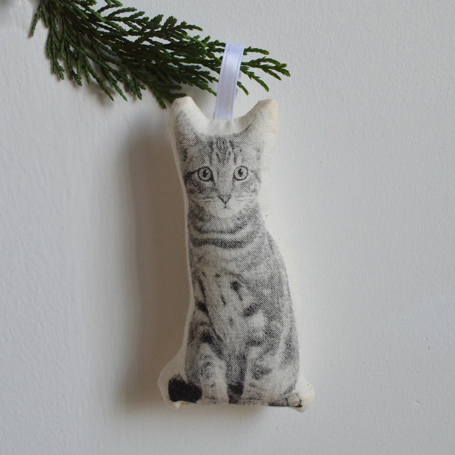 SILKSCREEN CAT ORNAMENT - Life Soleil