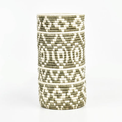 KAZI TALL LIGHT TAUPE DIYAMA VASE