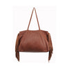 POSITIVE ELEMENTS LEATHER DEL FRINGE TOTE IN BROWN
