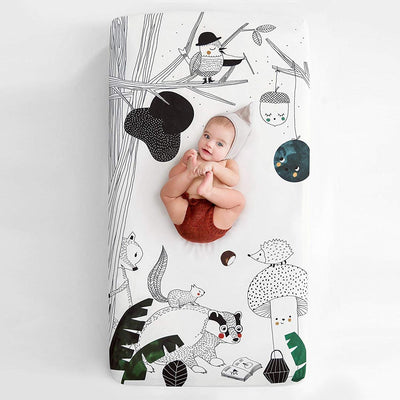WOODLAND FITTED CRIB SHEET