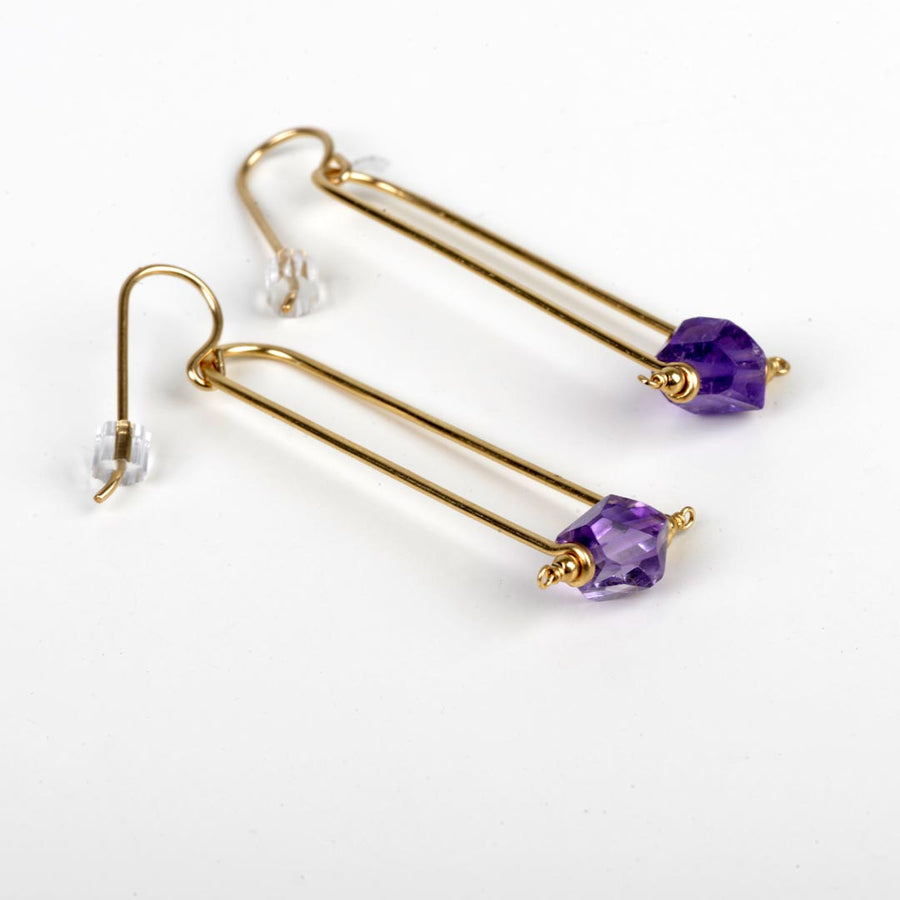 ENCLAVE & CO AMETHYST DROP EARRINGS